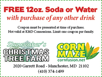 coupon for Showvakers Christmas Tree Farm